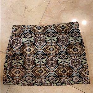 Zara Trafaluc Tapestry Mini Skirt
